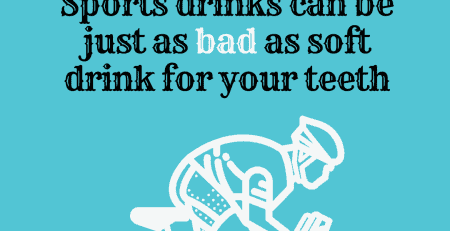 Did you know sports drinks can contain just as much sugar, and be just as acidic as soft drink?