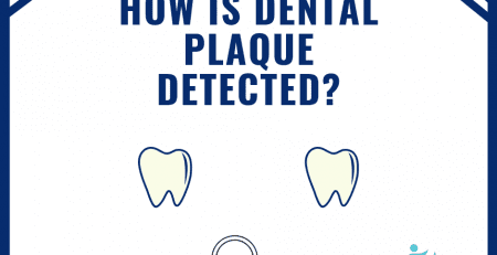 How is dental plaque detected?